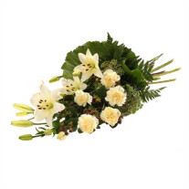 Funeral bouquet in white
